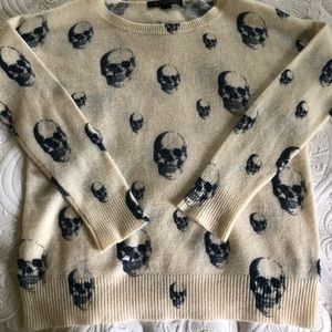 Skull Cashmere scoop neck sweater